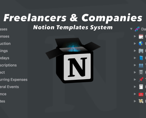 Notion template for self employed Freelancers and Companies